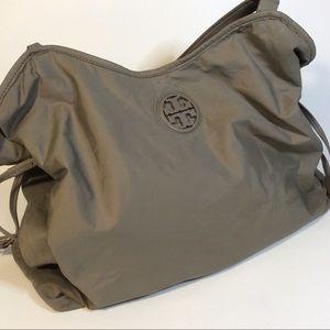 Tory Burch Green Nylon Slouchy Bag *Pulls Stains*